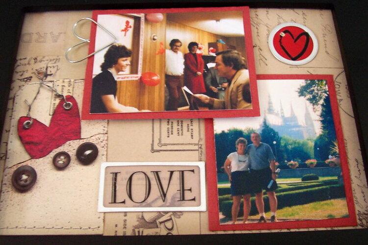 Altered Collage Frame - mom