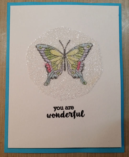 Glittered Butterfly