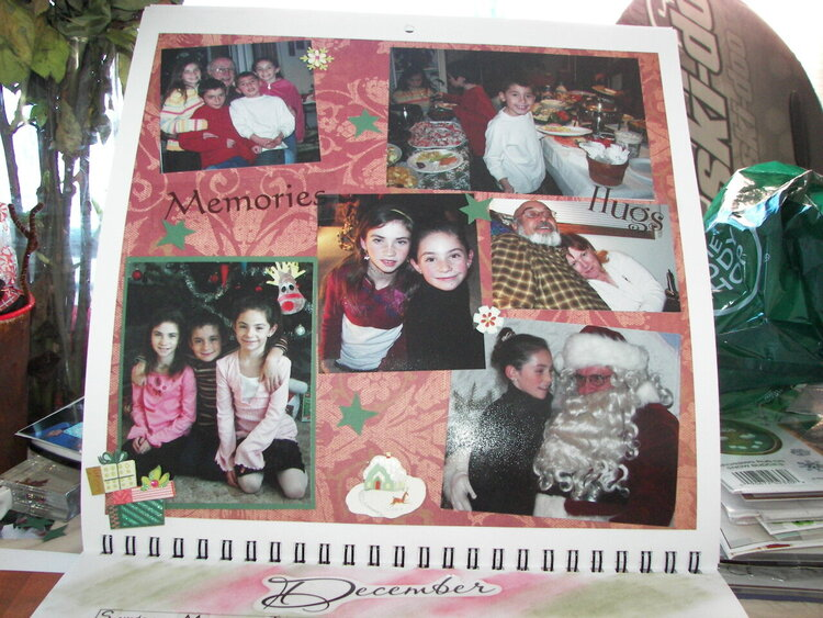 Christmas calendar-December