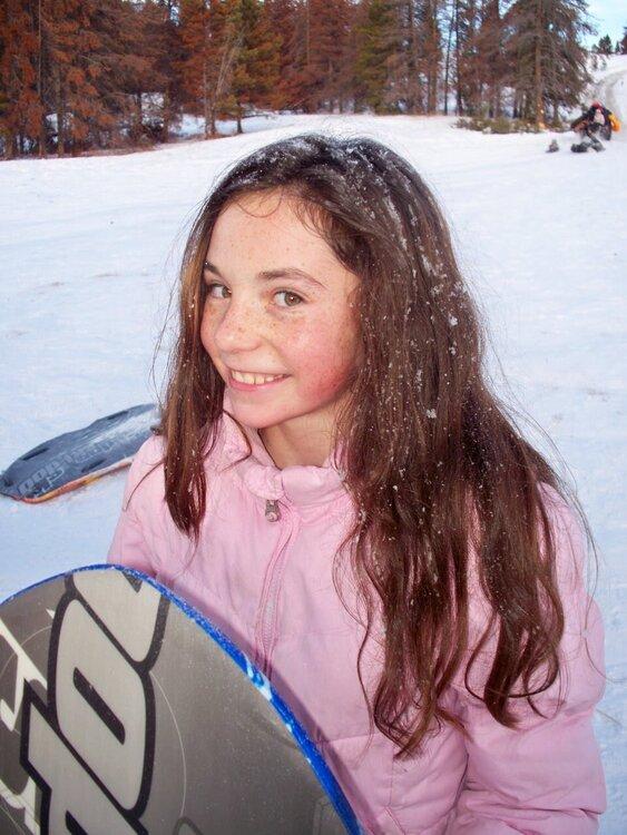 snowy hair:)