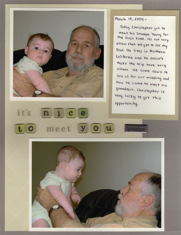 It's Nice To Meet You Grandpa