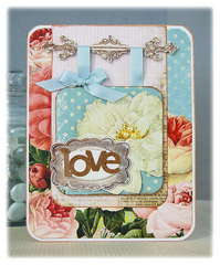 Love Card- Pink Paislee Sweetness Collection