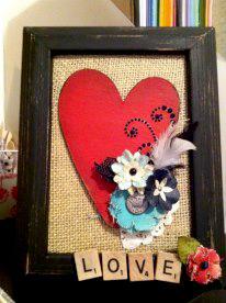 Chipboard heart