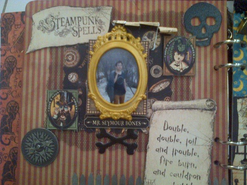 My Steampunk Spells Scrapbook - inside 1