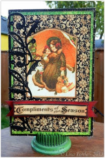 Vintage Christmas Card by Lisa