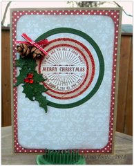Bows of Holly Card by Lisa