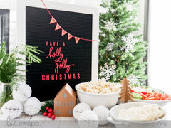 Holly Jolly Letterboard and Party