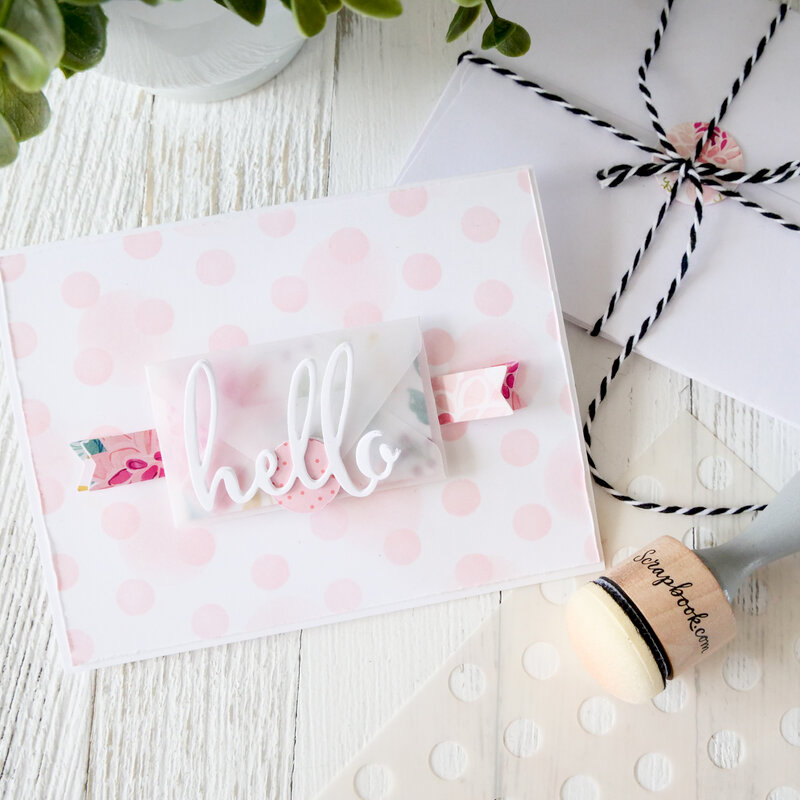 Hello Mini Envelope Card ~ Cards For Kindness
