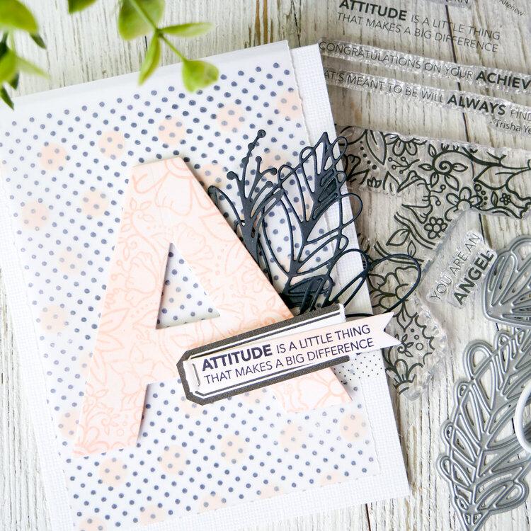 Attitude Card ~ Altenew Blog Hop