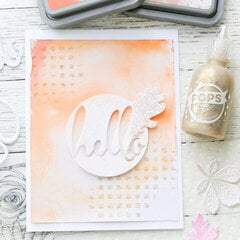 Hello ~ Champagne Pops of Color Card