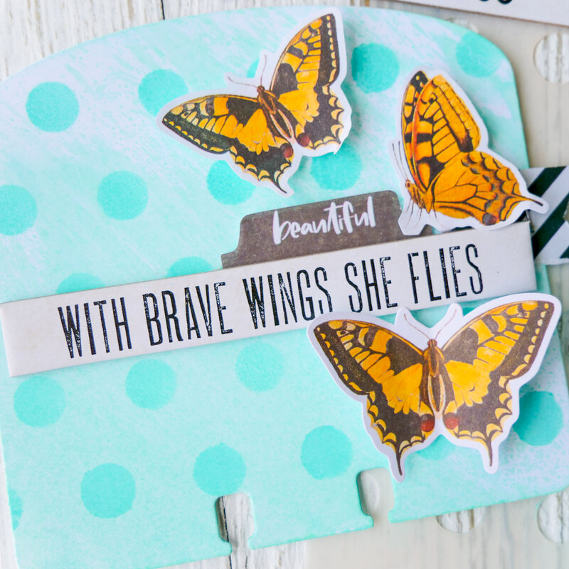 With Brave Wings She Flies ~ Salvaged Patine MemoryDex Card