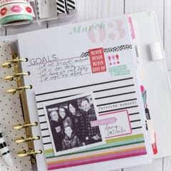 March Memory Planner Recap