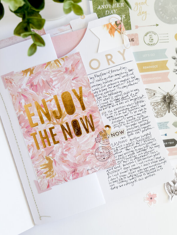 Enjoy the Now ~ Storyline Chapters Journaler
