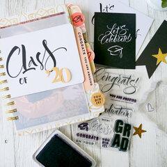 Graduation Mini Album ~ Graduation Stamped Tabs