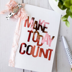 Make Today Count Mini Book