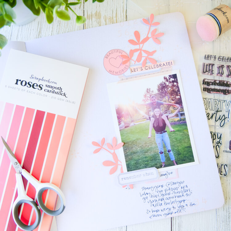 Let's Celebrate ~ Stamped Background Layout