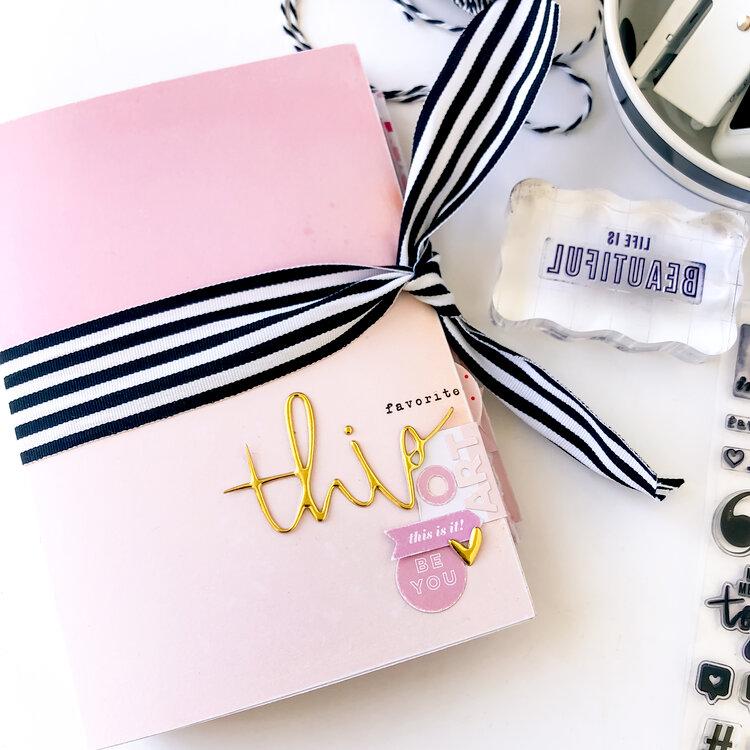 What the Scrap Mini Album Layouts ~ Heidi Swapp Color Fresh