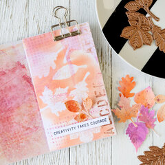 Gorgeous Leaves Art Journal Page