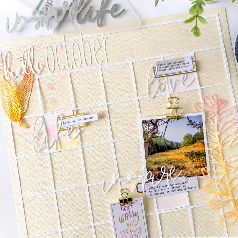 Hello October Calendar Layout