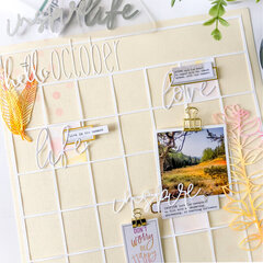 Hello October Calendar Layout