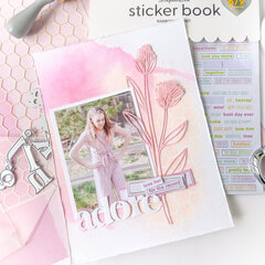 Adore Page Layout ~ A Scrapbook Challenge