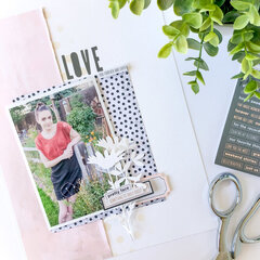 Live and Love Every Moment ~ Scrapbook Page