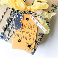 DIY Tag and Gift Wrap ~ Boo-Tiful Stamp Set