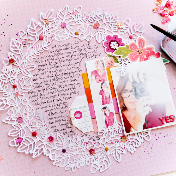 Tell Your Story Scrapbook Page Layout