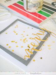 Merry Card ~ SlimLine + Stickles Merry Card