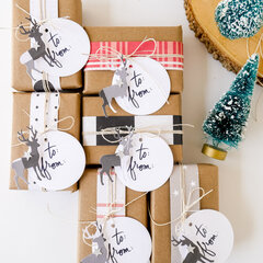 Easy Kraft Christmas Wrap and Tags