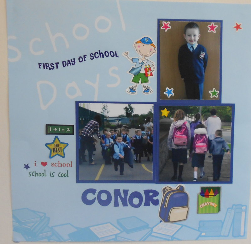 conor's first day at school