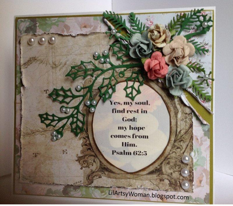 """Bible Journaling Card...Psalm 62:5"""