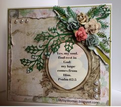 """Bible Journaling Card...Psalm 62:5"""
