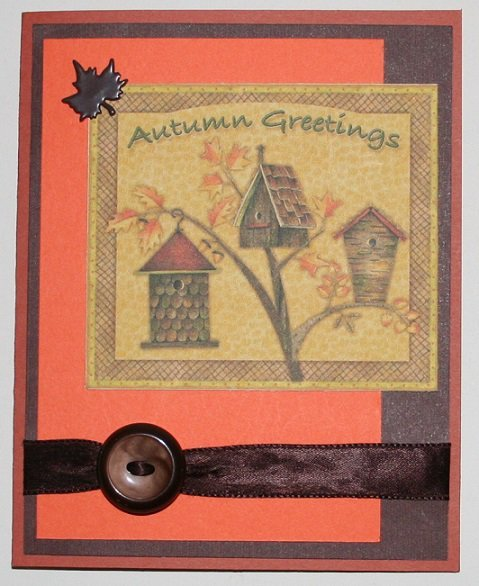 """Autumn Greetings"" card"
