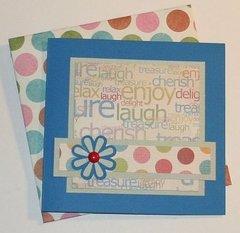ENJOY-LAUGH CARD