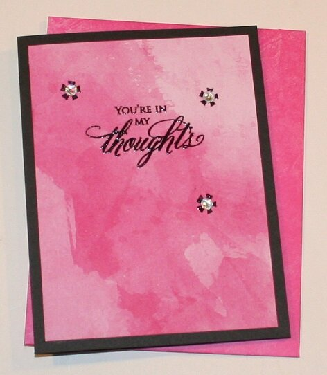 'YOURE IN MY THOUGHTS' CARD
