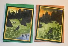 PAIR OF SCENIC CARDS