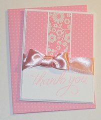 A PAIR OF THANK YOU CARDS