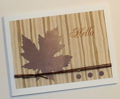 AUTUMN BLANK CARD