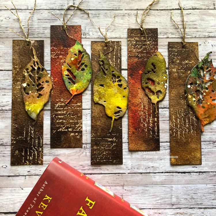 Autumn bookmarks