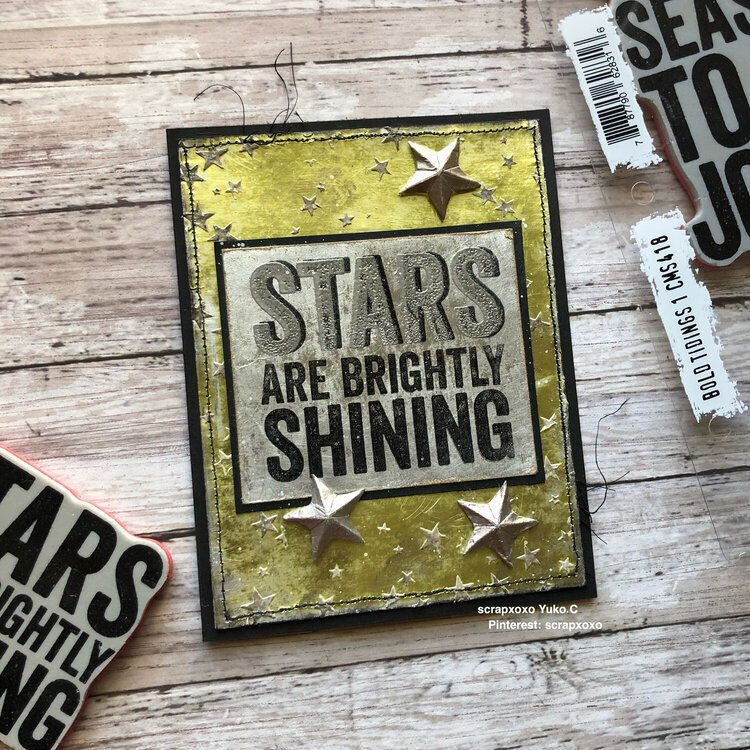 Stars are brightly shining