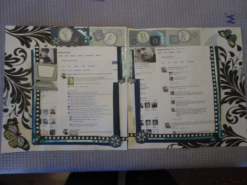 Very first go at scrapbooking.