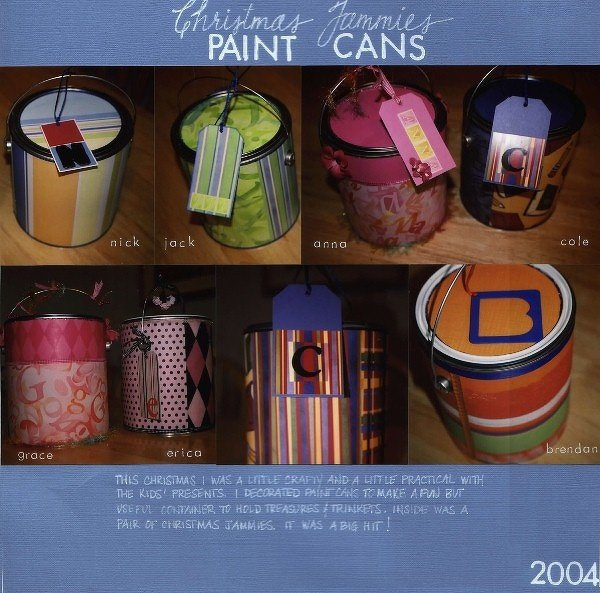 Christmas Jammies Paint Cans