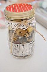 CUTE decorated mason jar