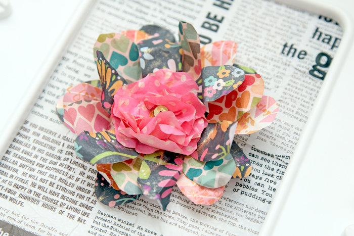 Tissue/Paper florals with pretty sequin center