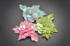 Floral Embellishments made out of sequins!