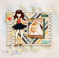 Layout with Julie Nutting doll by mru