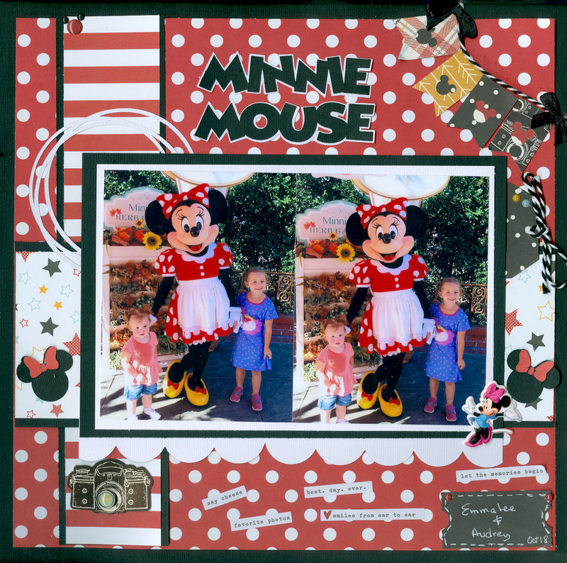 Minnie Mouse with granddaughters Audrey & Emmalee