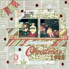Christmas 1985 with my 3 kids
