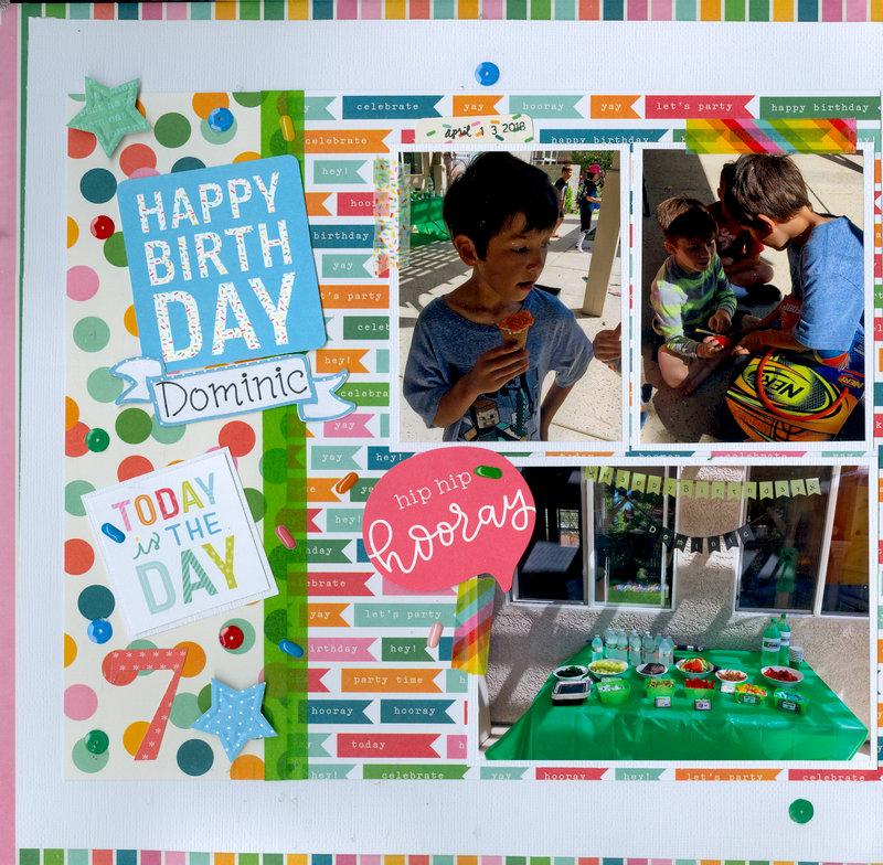 Happy Birthday Dominic (grandson) pg 1 of 2